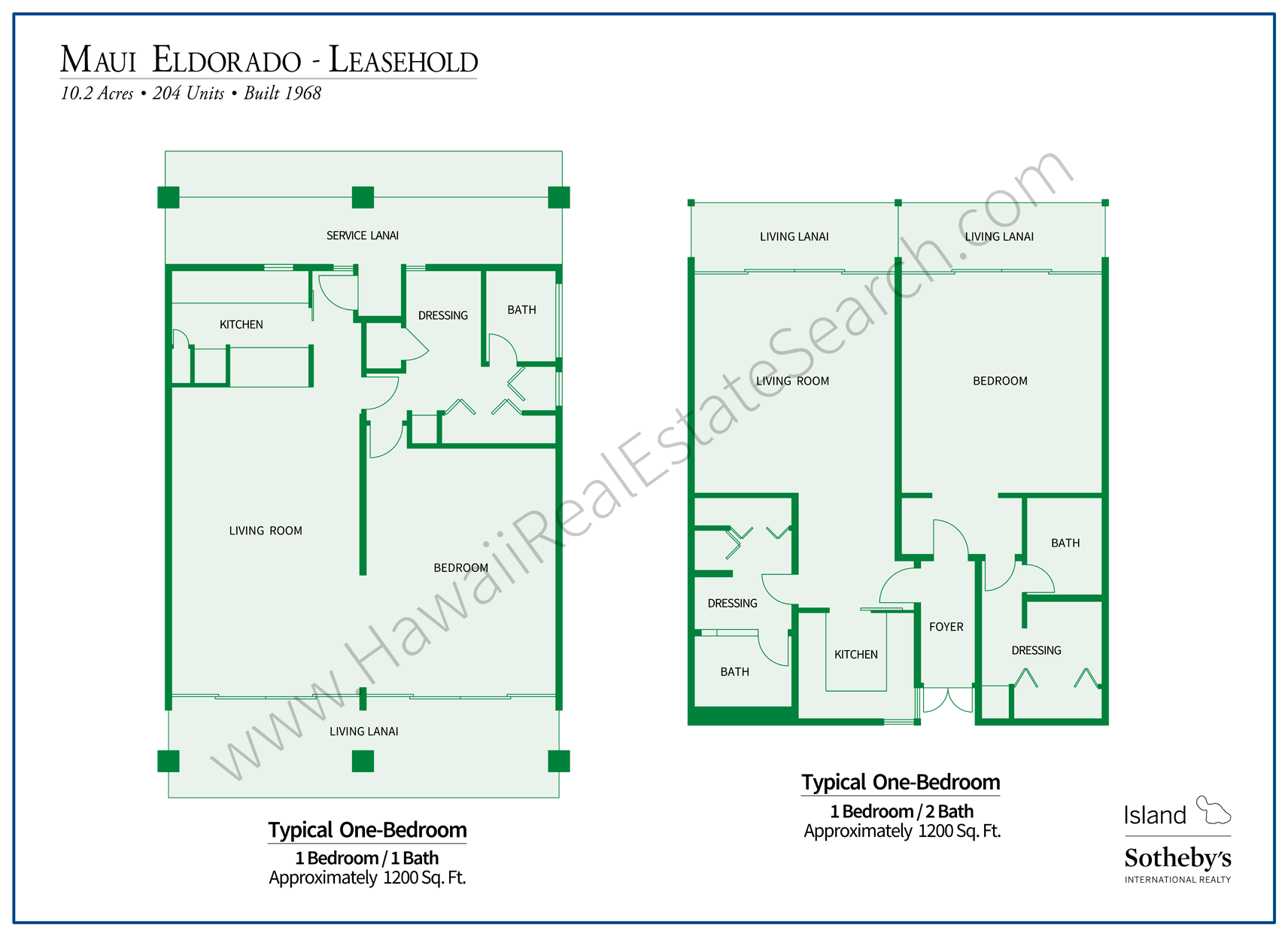 Maui Eldorado Floor Plans Set 2